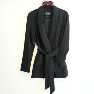 Frank + Oak Black Long Jacket